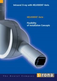 Intraoral X-ray with HELIODENT Vario. HELIODENT Vario ... - Codema