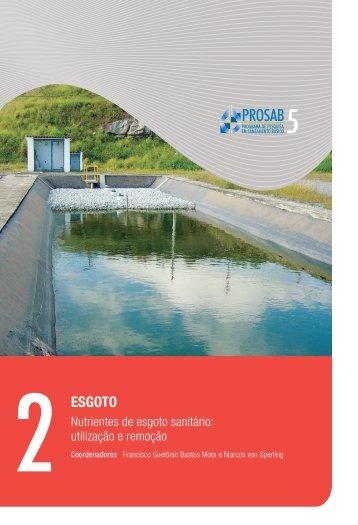 Nutrientes de esgoto sanitário: utilização e remoção - Finep