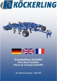 Ersatzteilliste QUADRO Parts Book QUADRO Pièces de rechange