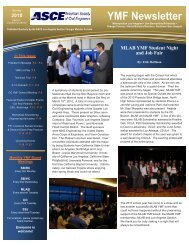 YMF Newsletter - ASCE Orange County Younger Member Forum
