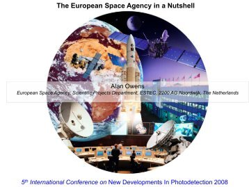 The European Space Agency in a Nutshell - NDIP 2011