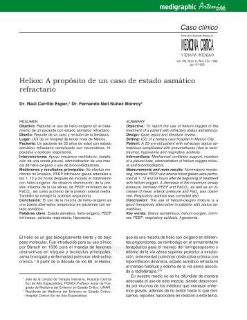 Heliox: A propósito de un caso de estado asmático ... - edigraphic.com