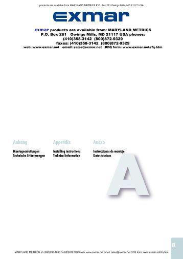 Anhang Appendix Anexo - Maryland Metrics