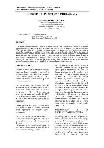 tomografia ionosferica computarizada - Instituto Geofísico del Perú
