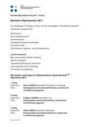 Bachelor-Diplompreise 2011 - Ntb