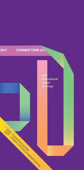Sommersemester 2011 - KISD