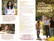 Learning Support Services - Schreiner University