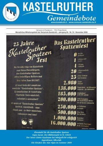 Kastelruther Gemeindebote - Ausgabe November 2009 (3,72 MB