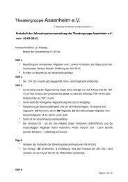 Protokol JHV 2012 - Theatergruppe Assenheim eV