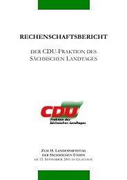 Rechenschaftsbericht zum 15. Landesparteitag der Sächsischen ...