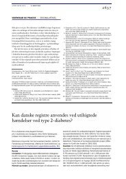 Kan danske registre anvendes ved utilsigtede - Ugeskrift for Læger