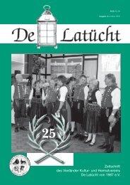 Zeitschrift des Vierländer Kultur- und Heimatvereins De Latücht von ...