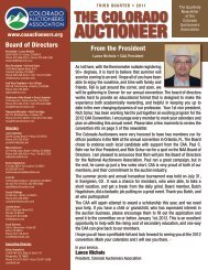 AUCTIONEER - Colorado Auctioneers Association