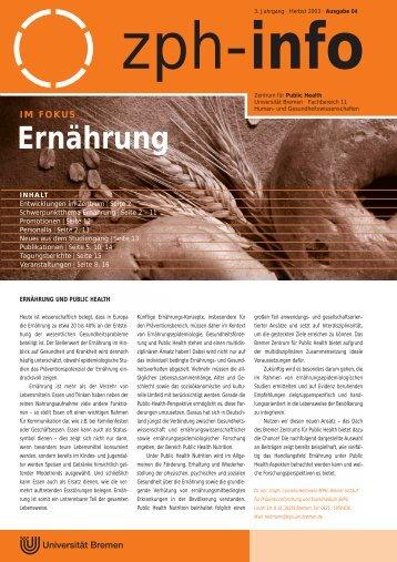 Ernährung - IPP - Universität Bremen