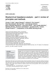 Bioelectrical impedance analysisFpart I: review of principles and ...