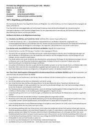 Protokoll der Mitgliederversammlung der LAG ... - LAG Medien eV