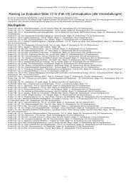 Ranking zur Evaluation WiSe 11/12 (Fak VII) Lehrevaluation (alle ...