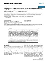 Is bioelectrical impedance accurate for use in large epidemiological ...