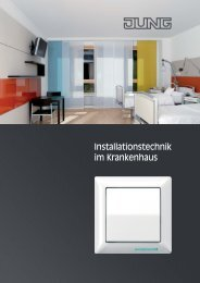 JUNG Installationstechnik im Krankenhaus - Schalter und Systeme ...