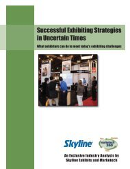 Successful Exhibiting Strategies in Uncertain Times