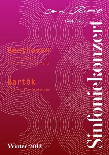Programmheft Winter 2012 - Sinfonieorchester ConBrio aus Würzburg