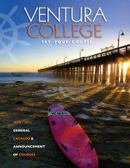 2011 General CataloG & announCement of Courses - Ventura College