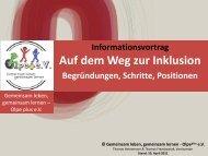 Auf dem Weg zur Inklusion - Inklusion Olpe / Gemeinsam leben ...