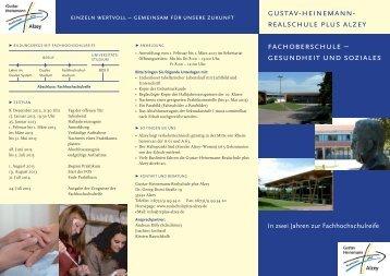 gustav-heinemann- realschule plus alzey fachoberschule ...