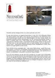 Jahresrückblick 2012 des Bürgermeisters - Neuenbürg