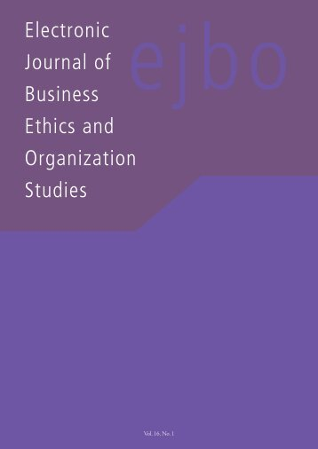 View PDF - Electronic Journal of Business Ethics and Organization ...