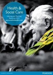 Health & Social Care - Pearson Schools