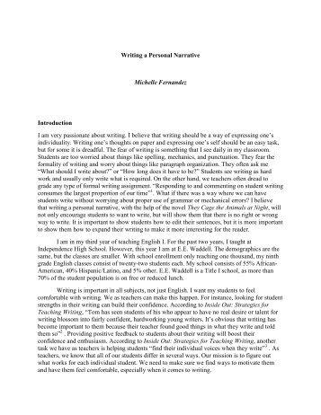 Good narrative essay introduction