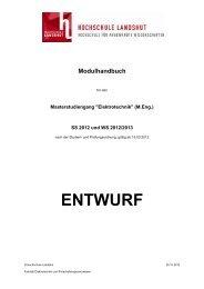 Modulhandbuch - Hochschule Landshut
