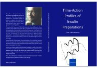 Time-Action Profiles of Insulin Preparations