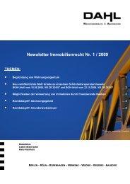 Newsletter Immobilienrecht Nr.1-2009 - Steinrücke ⋅ Sausen