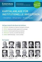 Kapitalanlage für institutionelle investoren - Dechert