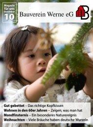 Mitgliederzeitung 2010/12 - Bauverein Werne eG