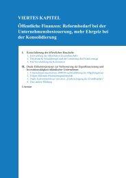 VIERTES KAPITEL Öffentliche Finanzen: Reformbedarf bei der ...