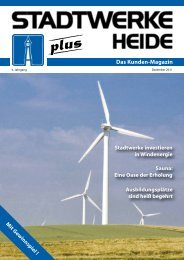 Ausgabe Dezember 2011 - Stadtwerke Heide GmbH