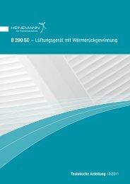 B 200 SC - HEINEMANN GmbH