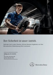 Service-Angebotsflyer Mercedes-Benz Transporter (PDF)