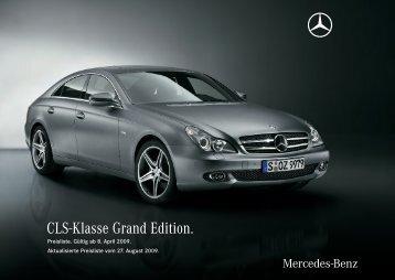 CLS-Klasse Grand Edition. - Mercedes-Benz Niederlassung Köln ...