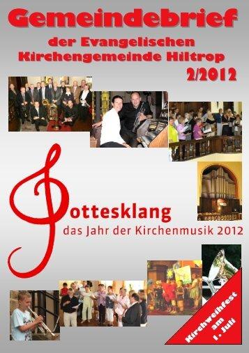 Gemeindebrief - Evangelisch in Hiltrop Erlöserkirche - Kirchenkreis ...
