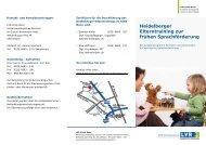 Heidelberger Elterntraining zur frühen ... - LVR-Klinik Bonn