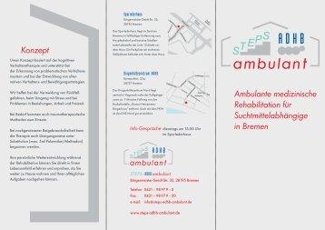 Ambulante medizinische Rehabilitation für Suchtmittelabhängige in ...