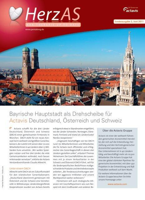 Bayrische Hauptstadt als Drehscheibe für Actavis Deutschland ...