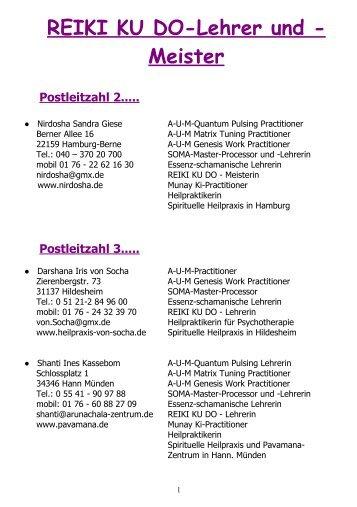 REIKI KU DO-Lehrer und -Meister - SOMA-Work.de