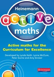 Active maths for the Curriculum for Excellence Ac ... - Pearson Schools