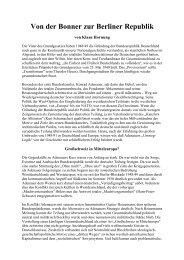 Von der Bonner zur Berliner Republik - Deutschland Journal