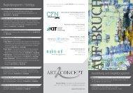 Ausstellung und Begleitprogramm Begleitprogramm ... - CFN - KIT